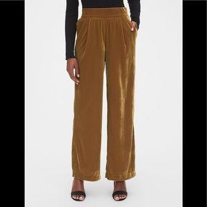 GAP gold velvet wide leg pants